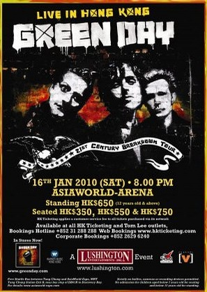 Green Day Live in HK 2010