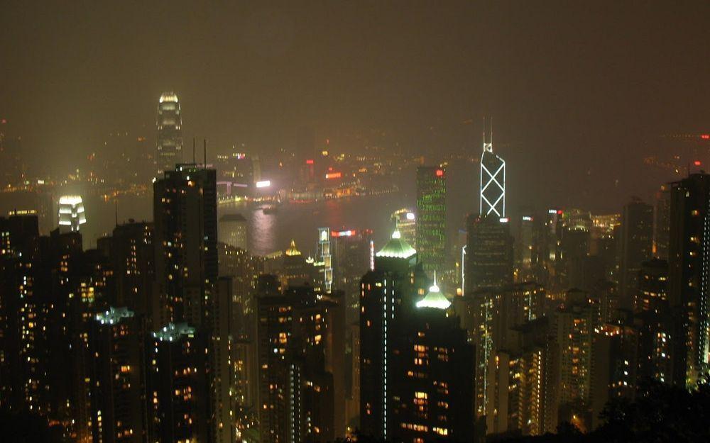 香港山頂夜景2007