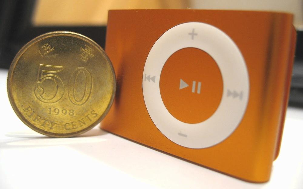 iPod Shuffle與五毫子硬幣