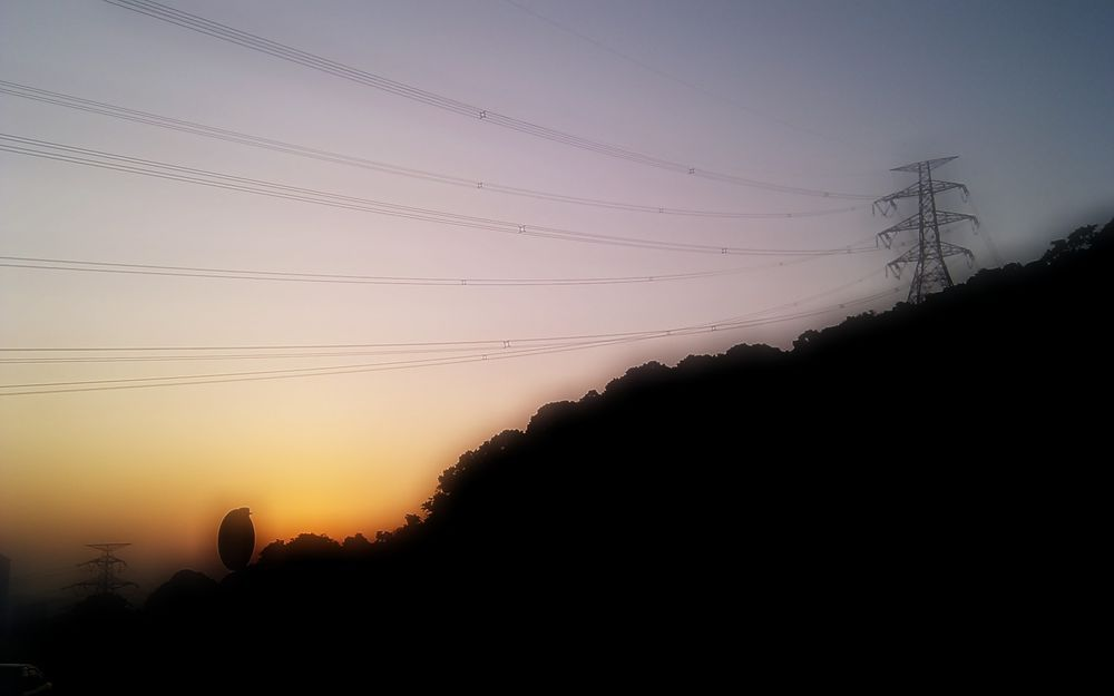 城門水塘黃昏