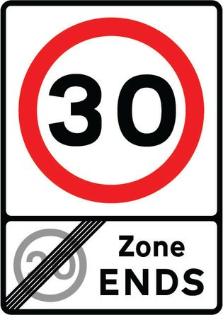 30 - End of 20 Zone