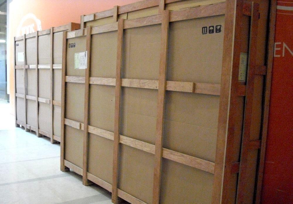 Bahrain出差 貨件大木箱