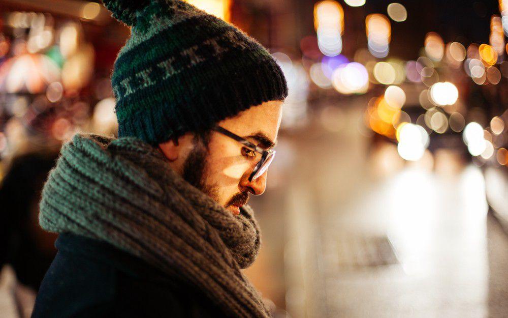 冬天的街道 孤單一人