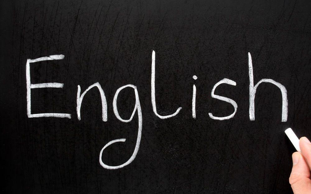 """English"" chalkboard"