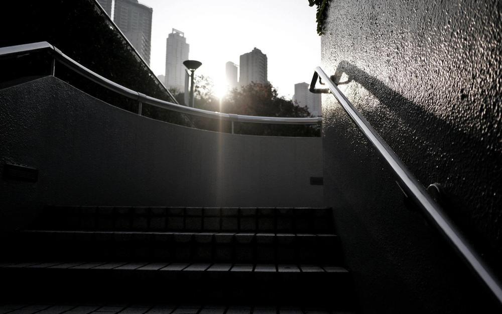 香港公園 樓梯 曙光