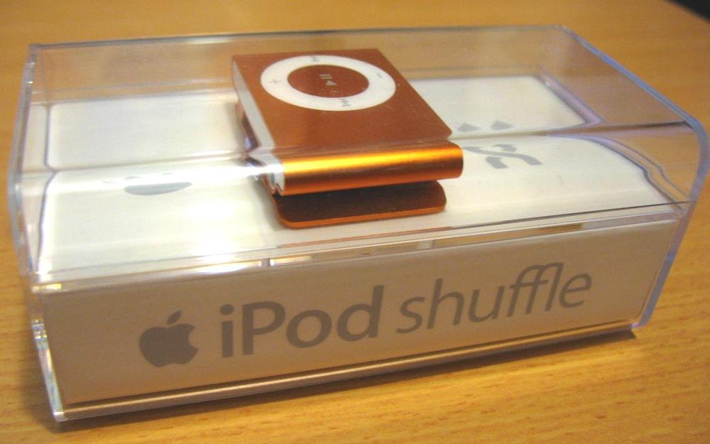 iPod Shuffle包裝盒