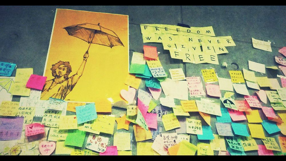 Lennon Wall, Hong Kong