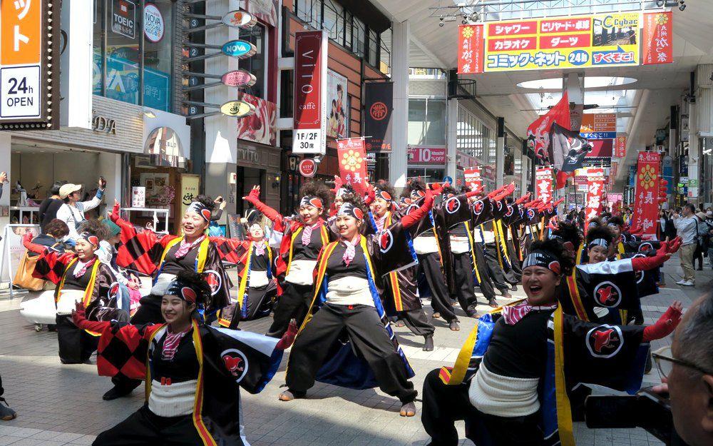 熊本市商店街的九州がっ祭