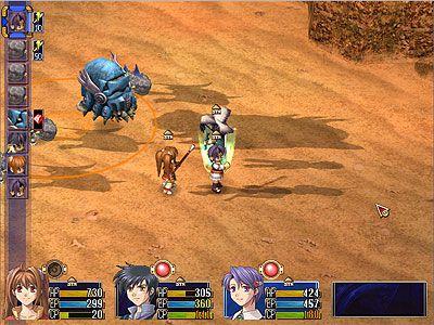 戰鬥畫面 - Estelle, Joshua和Klose