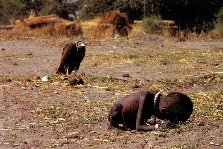 Kevin Carter - The vulture and the little girl