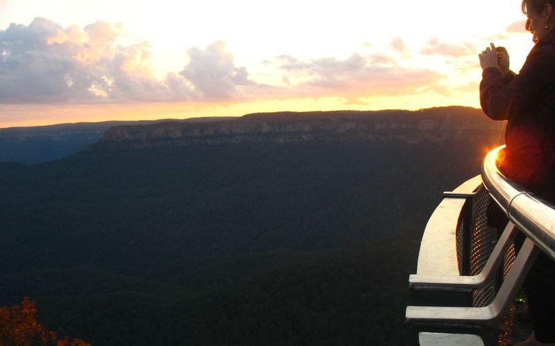 藍山的日落
