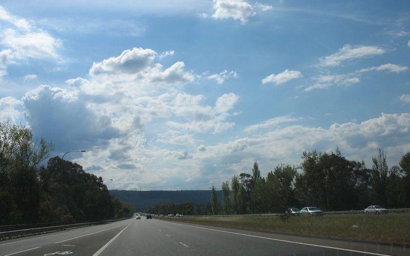 前往藍山的路上