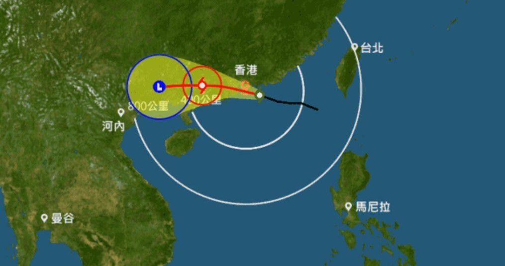 人性化的香港颱風