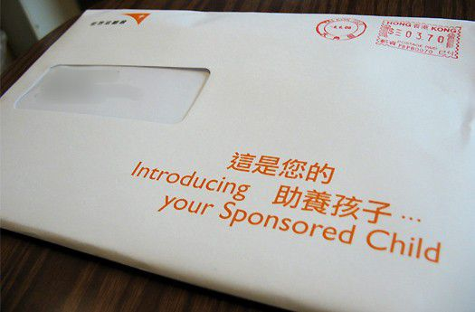 World Vision Child Sponsorship envelope